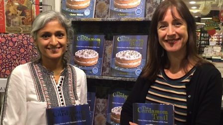 Chetna Makan and Becky Alexander at Chetna's book event in Waterstones