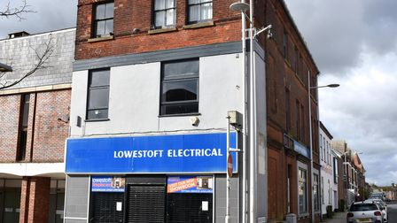 The former Lowestoft Electrical store building which was sold after an auction. Picture: Mick Howes
