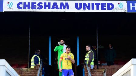 Gary Warren of Torquay United walks out onto the pitch before the FA Trophy First Round match betwee