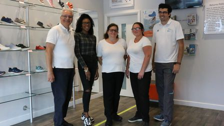 Staff at Precious Soles in Potters Bar.