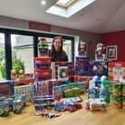 Isabel Hegarty with items she donated to Collier Row and Romford Food Bank.