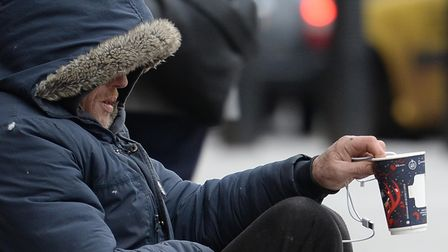 A homeless person in Victoria, London. PA Photo. Picture date: Thursday January 16, 2020.