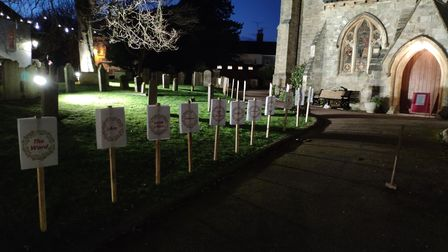 The names of Jesus' Advent Calendar in the churchyard
