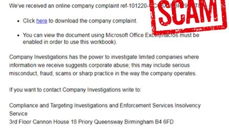Suffolk Trading Standards has issued a 'scam' warning.