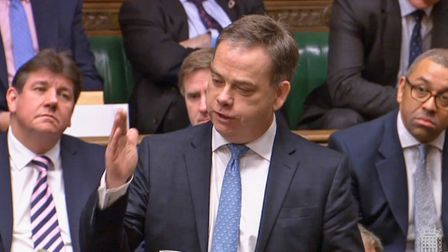 Nigel Adams speaks in the House of Commons. Photograph: PA.