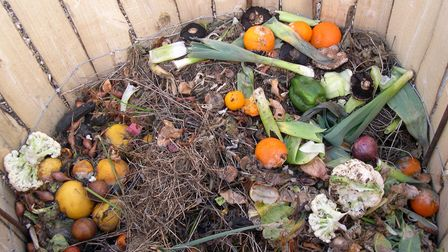 Undated handout picture of food waste in a compost bin. See PA Feature GARDENING Recycle. Picture cr