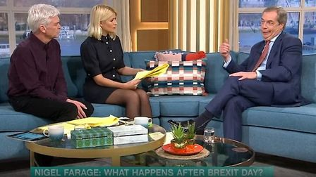 Nigel Farage appears on This Morning. Photograph: ITV.