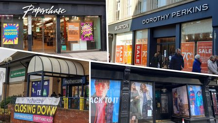 shops which have closed down in Ipswich in 2020