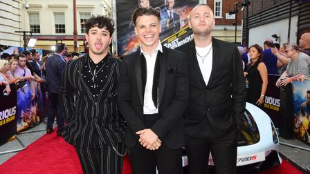 Yungblud (centre) attending a special screening of Fast & Furious Presents: Hobbs and Shaw, held at