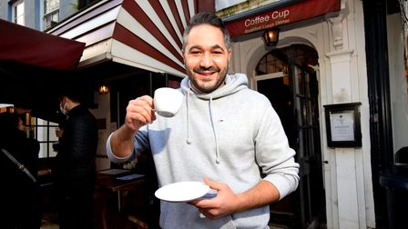 Independent traders HAMPSTEADNicholas Mollura, owner of the Coffee Cup Hampstead High Street