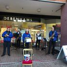 The Ipswich Hospital Band have continued to play for shoppers this year