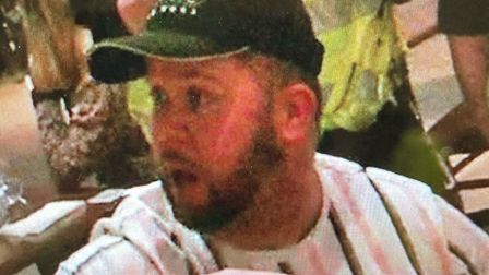 Police would like to speak to this man after an incident at the Turkish Kitchen in Hatfield.