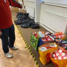 Welwyn Garden City police donated to the local food bank and women's refuge.