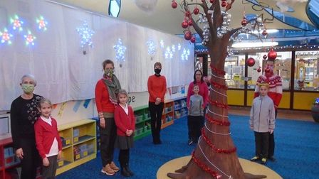 The atrium at Gunton Primary Academywas transformed recently by the school'sParent, Staff andFriends Association (PSFA)