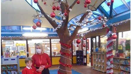 The atrium at Gunton Primary Academy was transformed recently by the school's Parent, Staff and Friends Association...