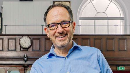 New Unity minister Andy Pakula in the Newington Green church.