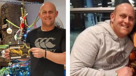 Before and after pictures of Sam Morgan-Russell after losing more than four stone