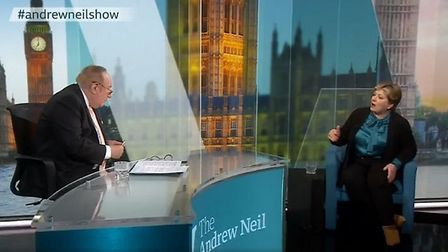 Emily Thornberry is grilled by Andrew Neil. Photograph: BBC.