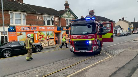 Firefighters from Princes Street in Ipswich were at the scene in minutes