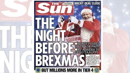 The Sun's Christmas Eve front cover