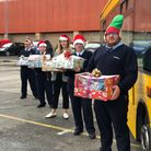 First Bus Weston staff have handed out Thank You hampers to Weston General Hospital.