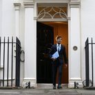 Chancellor of the Exchequer Rishi Sunak leaves 11 Downing Street, London, ahead of delivering his on