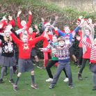 The children of the West Berry Federation aim to bring smiles with their Christmas dance video