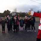 Father Christmas opens the first part of the Umberleigh Primary Academy park and play scheme