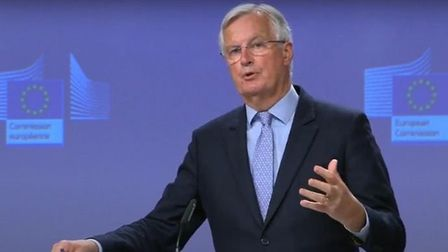 Chief EU negotiator Michel Barnier told businesses to revive no-deal Brexit planning; YouTube.