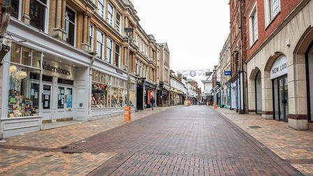 All non essential shops in Ipswich town centre are closed as Suffolk enters into Tier 4 on Boxing Da