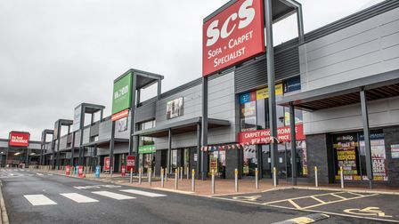 A quiet Ransomes Euro Retail Park on Boxing Day. Picture: Archant