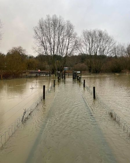 Taverham Mill has closed its reserve following flooding from the River Wensum.
