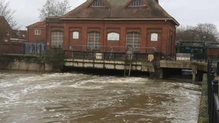 Ken Hurst said he had never seen the River Wensum so close to the top of the bridge.