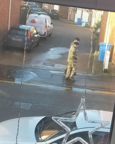 Police and the bomb squad were seen at a property in Sprowston Road.