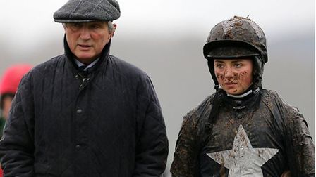 Bryony Frost is pictured with her dad, Jimmy