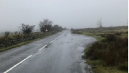 Picture of a remote layby on Dartmoor