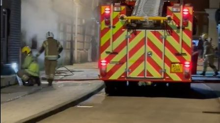 Fire engines were sent to King Street in Norwich shortly after 2.20am on Monday morning.