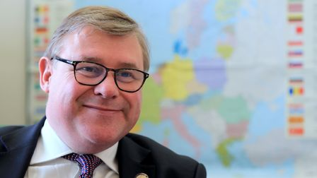 Mark Francois speaking in his office in the Houses of Parliament. Photograph: Gareth Fuller/PA.