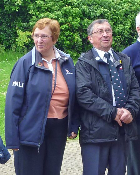 Weston RNLI's fundraising chairman Peter Elmont with his wife Bridget.