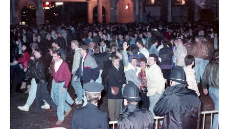 Did you celebrate New Year's Eve 1990 on the Cornhill in Ipswich?