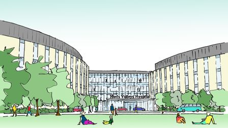 drawing of new hospital
