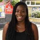Academy Achievers founder and CEO Paulette Watson outside Manor Primary School and Nursery