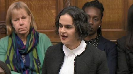 Nadia Whittome in the House of Commons