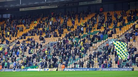 The home fans before the Sky Bet Championship match at Carrow Road, NorwichPicture by Paul Chester