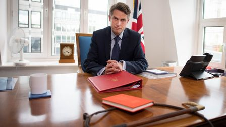 Secretary of State for Education Gavin Williamson in his office at the Department of Education in We