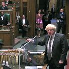 Prime Minister Boris Johnson during the debate in the House of Commons on the EU (Future Relationshi