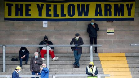 Torquay United fans before the National League match between Torquay United and Yeovil Town at Plain