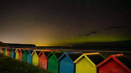 NOrthern Lights looking out from Whitby cSteve Bell