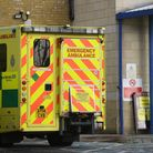 An ambulance outside an entrance to Southend University hospital in Essex. Hospitals in the county h