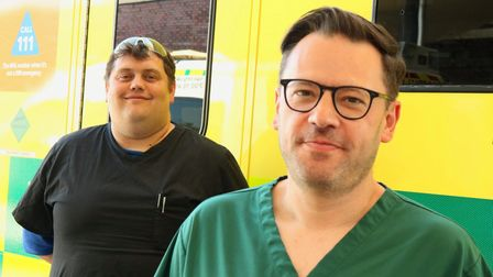 Northwick Park medics Jon Baker and John Ross